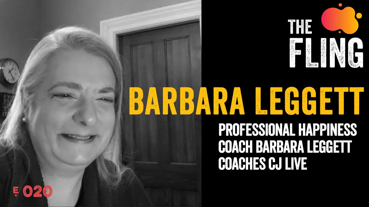 Professional Happiness Coach Barbara Leggett Coaches CJ Live